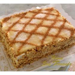 Tarta de crema con canela