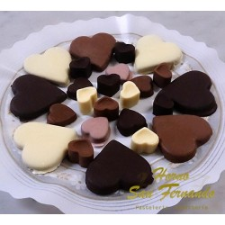 Pasta de chocolate-corazón